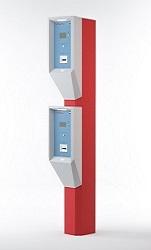 Двухуровневая въездная стойка устанавливается на въезде на территорию парковки