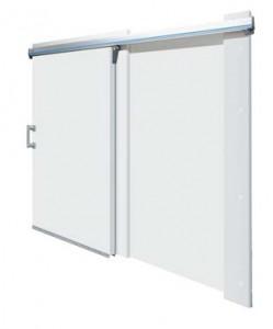 Откатные холодильные двери Кингспан